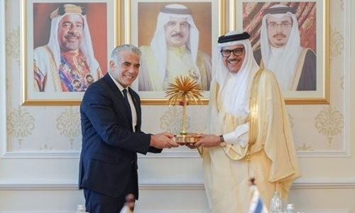 Dr AlZayani and Yair Lapid inaugurate Israel Embassy in Bahrain