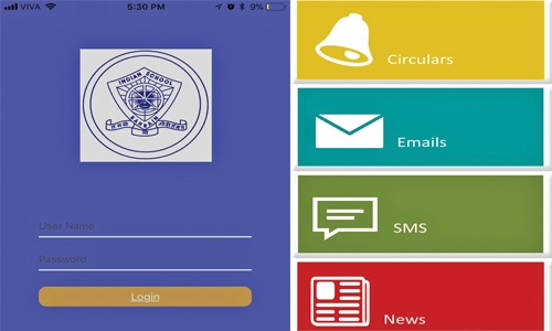 Indian School Bahrain Parent App released