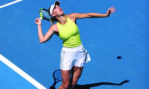 Sharapova shows she is serious contender for Australian Open title