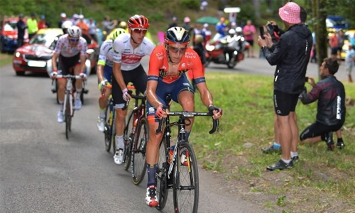 Bahrain Merida's Teuns wins Stage six, Ciccone takes race lead