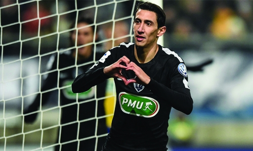 Di Maria scores hat-trick as PSG cruise to quarters, 4-1