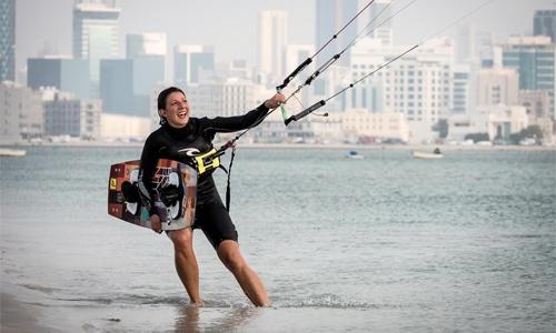 Anke's new bid to kite-surf across Persian Gulf waters