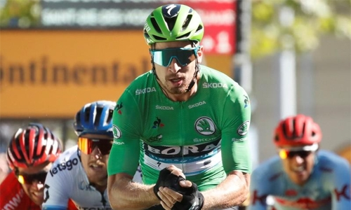 Sagan wins fifth stage, Alaphilippe retains lead
