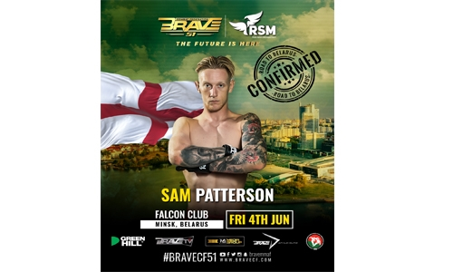 Sam Patterson among big names confirmed for BRAVE CF 51