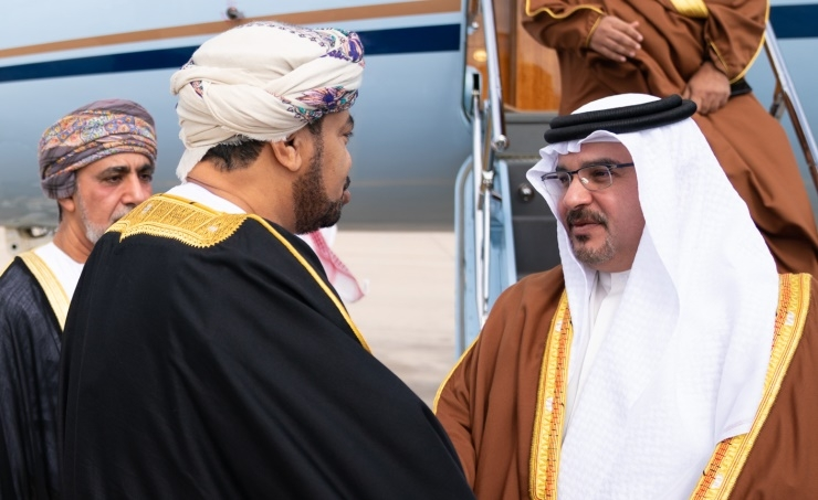 HRH the Crown Prince arrives in the Sultanate of Oman to extend his condolences