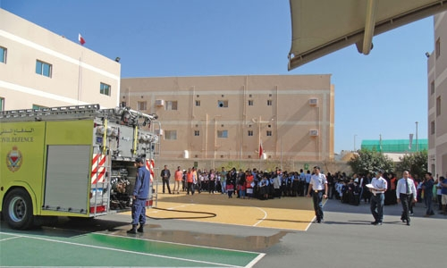 Evacuation drill by civil defence at BIS