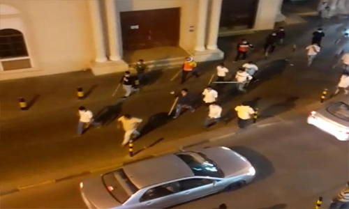 Bahrain police arrest six involved in street fight