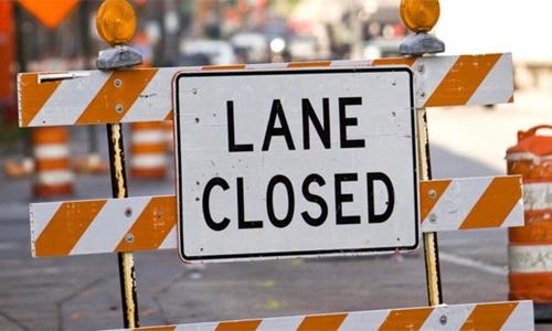 Ministry announces lane closures