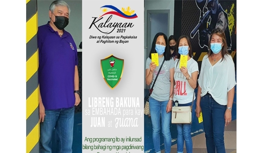 Philippine Embassy vaccination programme in full swing in Bahrain