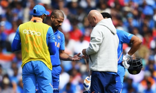 Dhawan injury in focus ahead of India's New Zealand clash