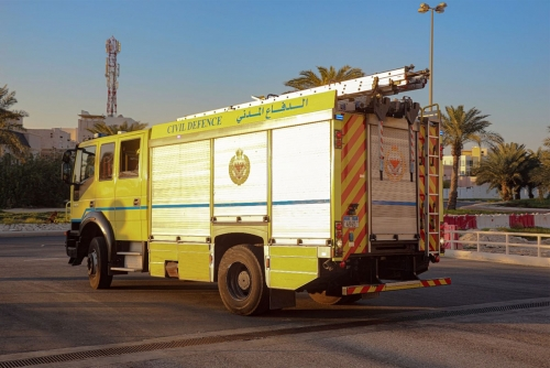 A Fire broke out in Salmaniya which led to the death of a 73-year-old