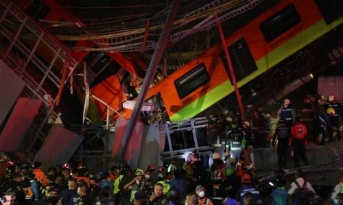 At least 20 killed in Mexico City subway bridge collapse