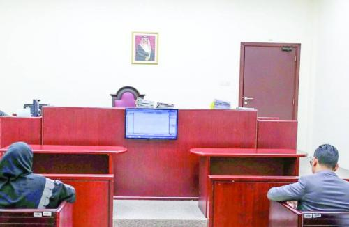 LCD screens installed at courts