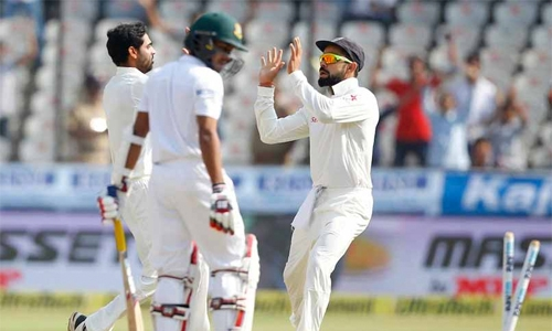Bangladesh all out for 388 in India Test