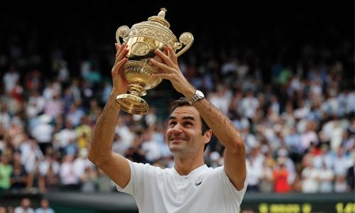Federer wins record 8th Wimbledon