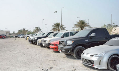 Vehicles equipped with noise mufflers seized