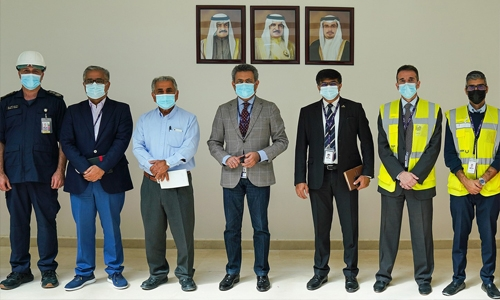 Final phase of construction work in aviation fuel depot complex at Bahrain International Airport nearing completion