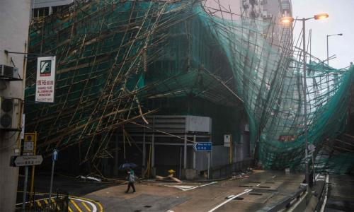 Mangkhut leaves trail of destruction in Hong Kong