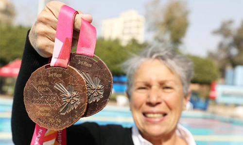 'Age is no obstacle' - Egyptian swimmer still a champion at 76