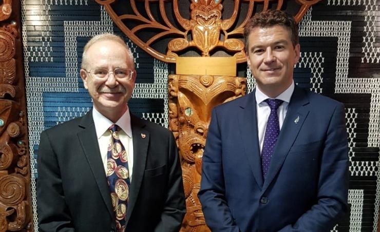 Bahrain's ambassador meets New Zealand officials