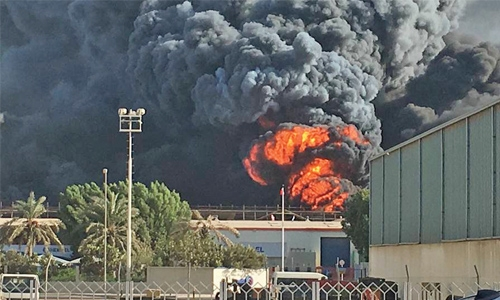 Warehouse in Bahrain destroyed by fire