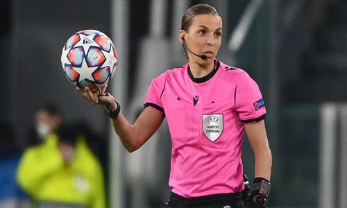 Stephanie Frappart becomes first woman to referee Champions League game