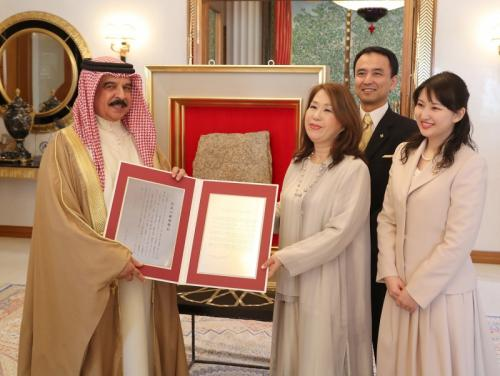 His Majesty receives prestigious Japanese honour