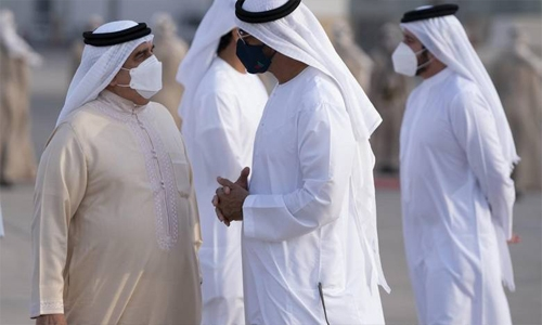 HM King arrives in Abu Dhabi for tripartite summit