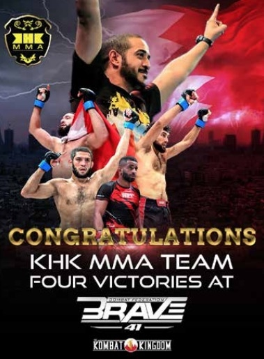 KHK MMA dominates at BRAVE CF 41 with four wins