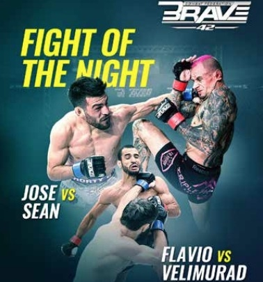 Two quarter-final tournament bouts earn fight of the night honours for BRAVE CF 42