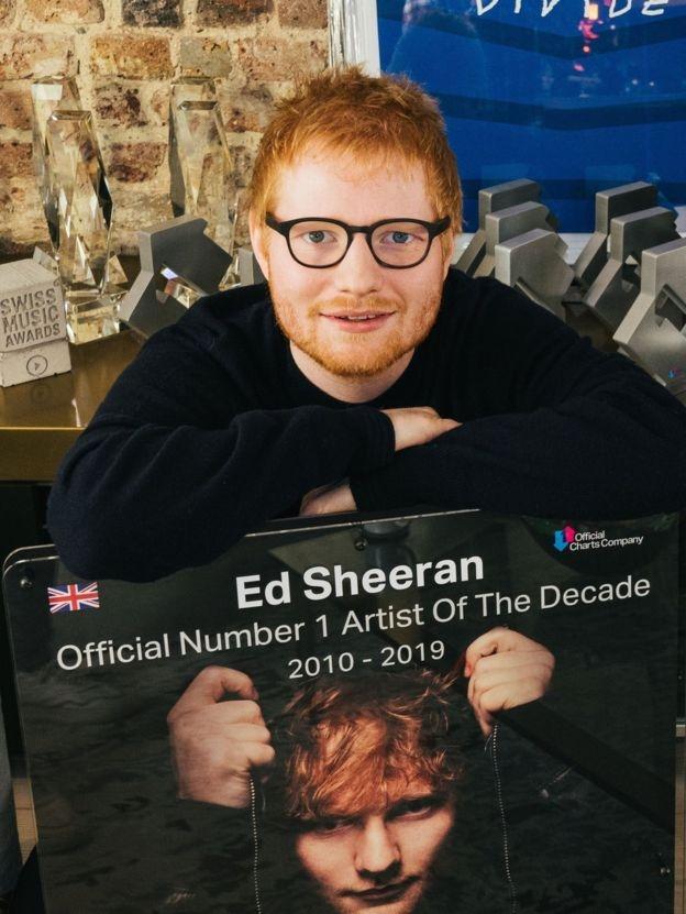 Ed Sheeran wins Artist of the Decade