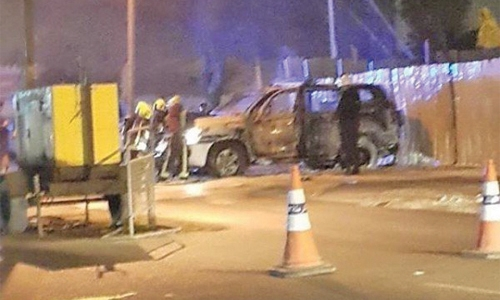 Arson suspects arrested over police  patrol attack