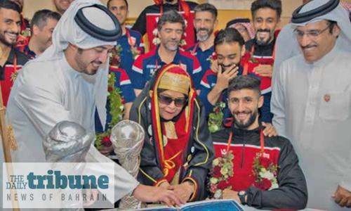 Shaikh Khalid leads champions' parade