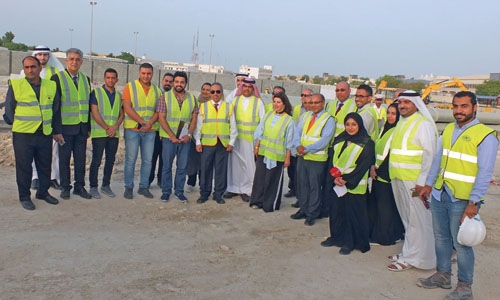 Minister of Works visits road work projects