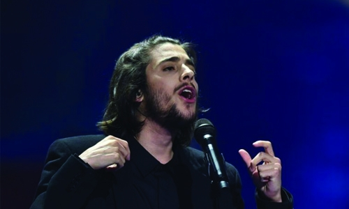 Portugal puts Eurovision hopes in big-hearted crooner