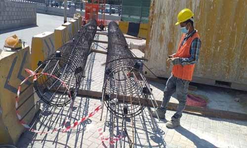 Construction works in full blast: Bahrain