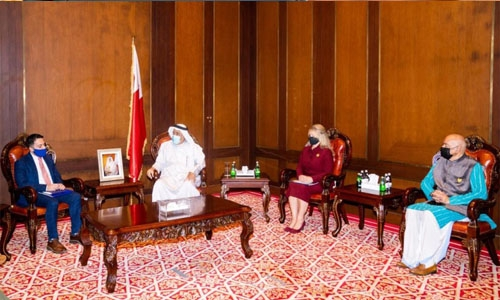 King Hamad Global Centre for Peaceful Coexistence Chairman receives EU delegation representative