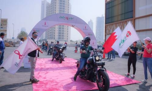 Lulu Hypermarket Bahrain drives 'Think Pink' support with biker parade