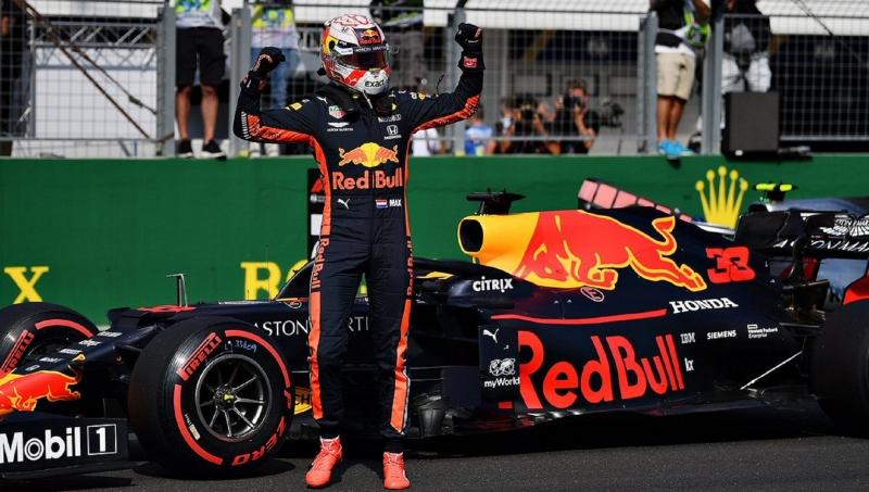 Verstappen celebrates 'incredible' maiden pole