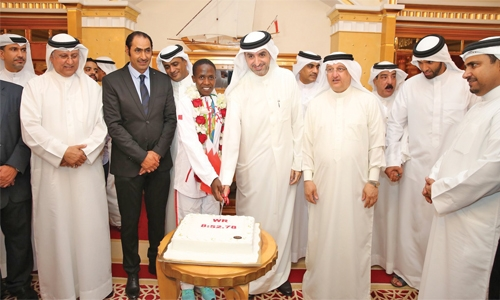 Bahrain's Ruth Jebet receives Olympian's welcome