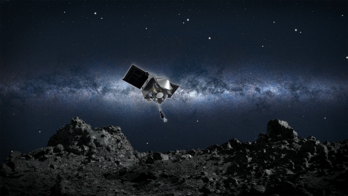 U.S. spacecraft swoops onto asteroid to snap up sample