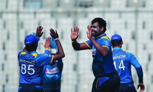 Thisara Perera stars as Sri Lanka Triumph