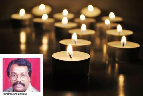 Social worker dies in Chennai