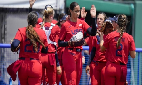 US tops Italy 2-0 in Olympic softball opener