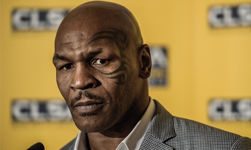 Tyson addresses the inaugural KHK Boxing event