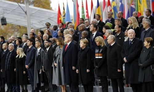 World leaders mark 100 years since the end of World War I in Paris
