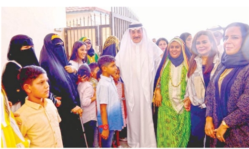 Minister shares Eid Al Adha joy with senior citizens, children