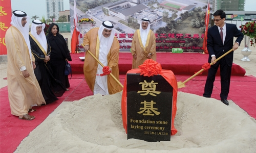 Foundation stone laid for new Chinese Embassy