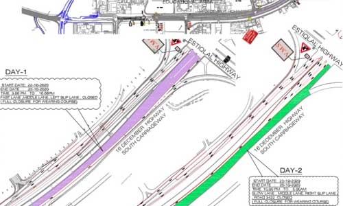 16 December Highway lanes set for closure