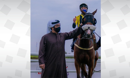 HH Shaikh Khalid bin Hamad Al Khalifa attends Rashid Equestrian Club's 4th race